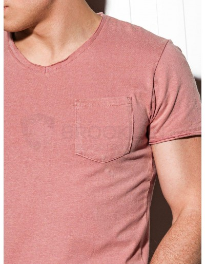 Men's plain t-shirt S1037 - powder pink