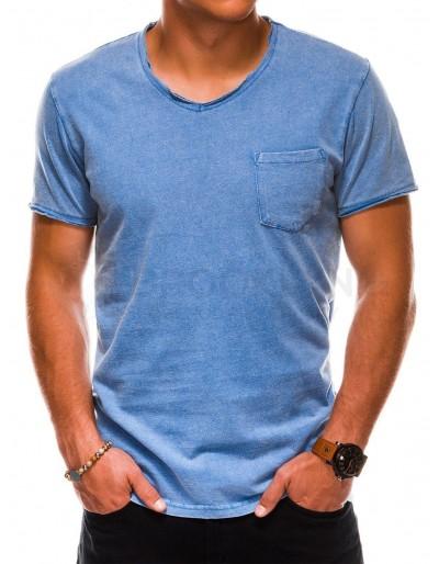Men's plain t-shirt S1037 - navy