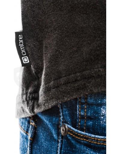 Men's plain t-shirt S1037 - black