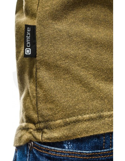 Men's plain t-shirt S1037 - olive