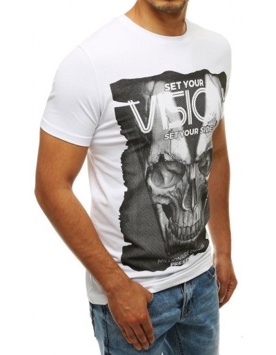 Bílé pánské tričko RX4200 s potiskem