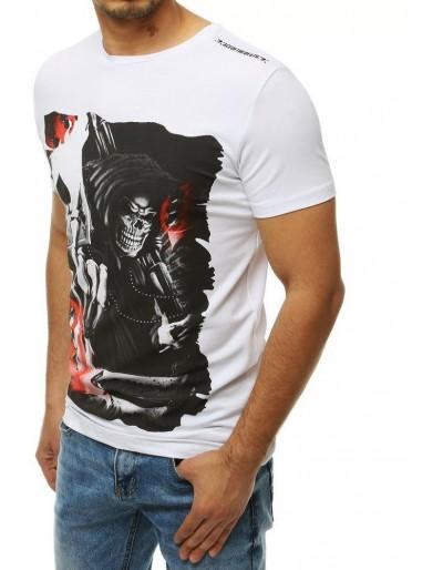 Bílé pánské tričko RX4201 s potiskem