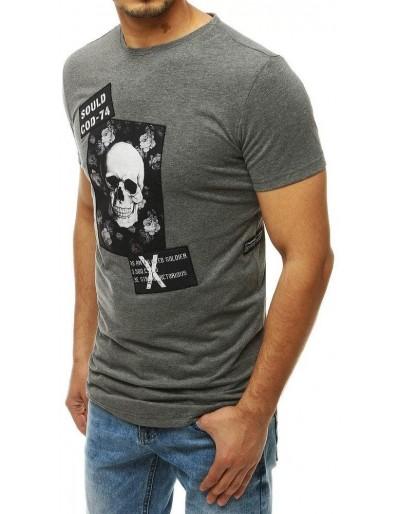 Pánské tričko s antracitovým potiskem RX4206
