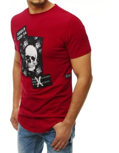 Burgundské pánské tričko RX4207 s potiskem