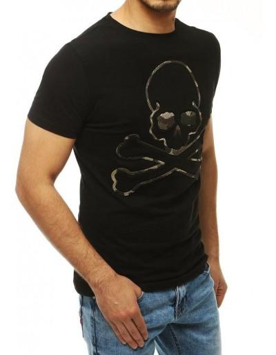 Černé pánské tričko RX4208 s potiskem