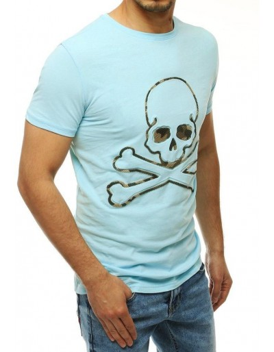 Pánské tričko s modrým potiskem RX4209