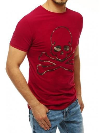 Pánské tričko s hnědým potiskem RX4210