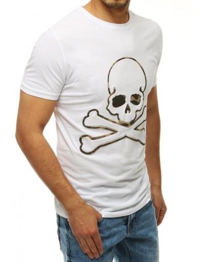 Bílé pánské tričko RX4211 s potiskem