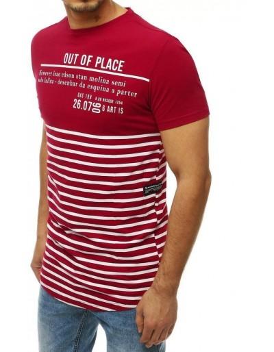 Pánské tričko s hnědým potiskem RX4213