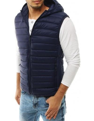 Pánská prošívaná vesta s kapucí Navy Blue TX3296