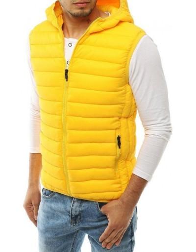 Žlutá pánská prošívaná vesta TX3298