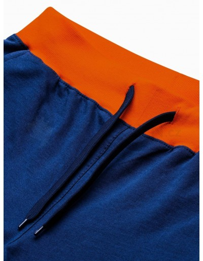 Men's sweatshorts P29 - navy/orange
