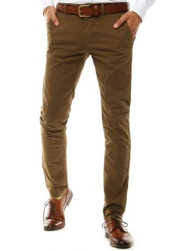 Hnědé pánské chino kalhoty UX2580