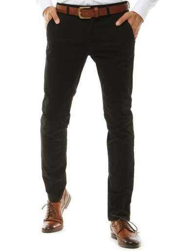 Černé pánské chino kalhoty UX2581