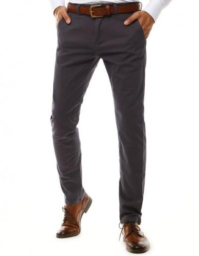 Tmavě šedé pánské chino kalhoty UX2583