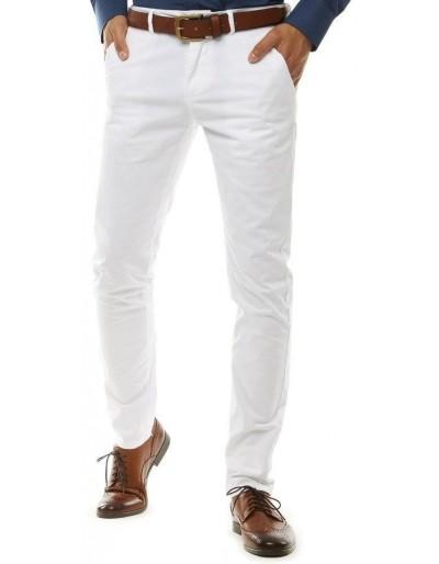 Bílé pánské chino kalhoty UX2591