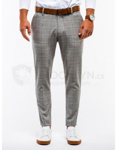 Pánské kalhoty chinos P848 - šedé