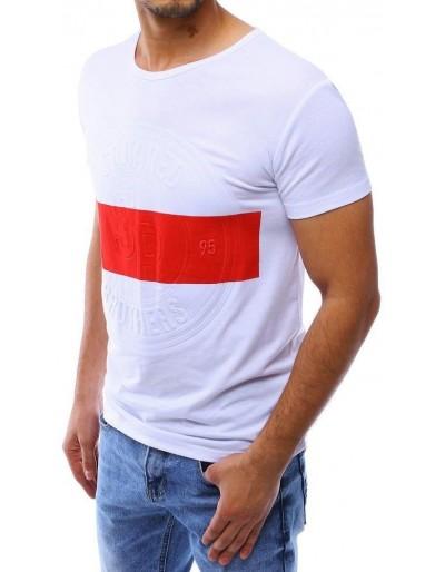 Bílé pánské tričko RX4222 s potiskem