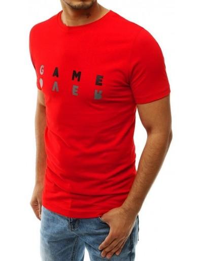 Červené pánské tričko RX4225 s potiskem