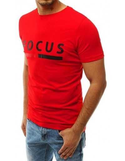 Červené pánské tričko RX4232 s potiskem