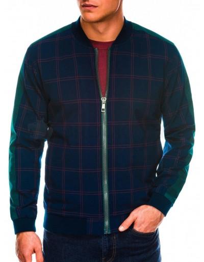 Men's mid-season bomber jacket C424 - navy