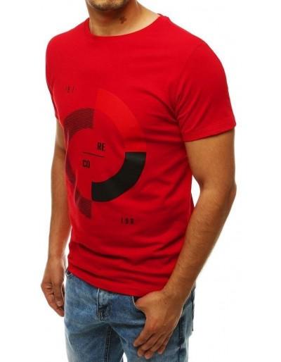 Červené pánské tričko RX4239 s potiskem