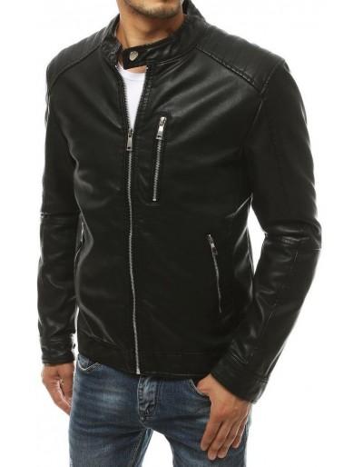 Černá pánská kožená bunda TX3302