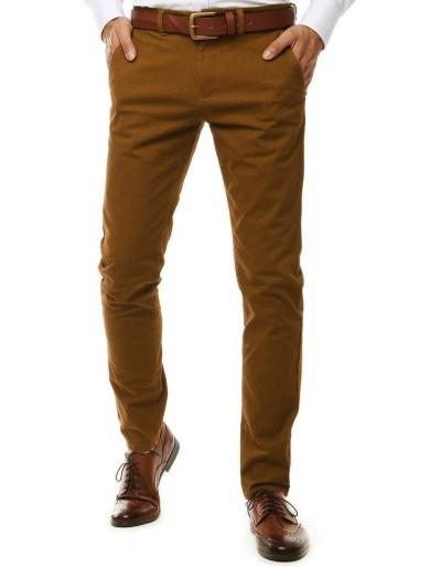 Hnědé pánské chino kalhoty UX2598