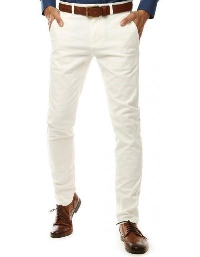 Pánské bílé chino kalhoty UX2600