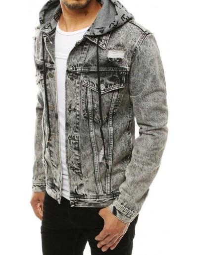 Tmavě šedá pánská džínová bunda TX3304