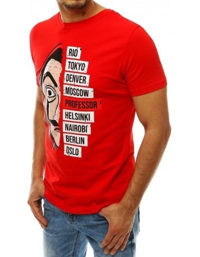 Červené pánské tričko RX4243 s potiskem