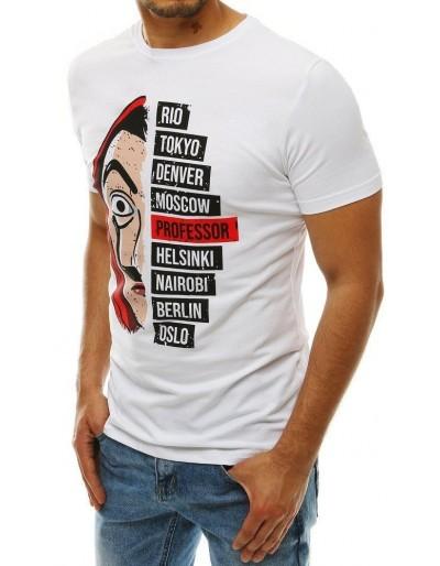 Bílé pánské tričko RX4246 s potiskem