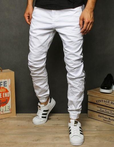 Pánské bílé běžecké kalhoty UX2607