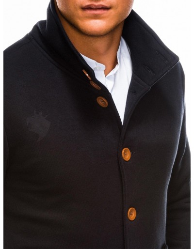 Men's buttoned sweatshirt CARMELO - black