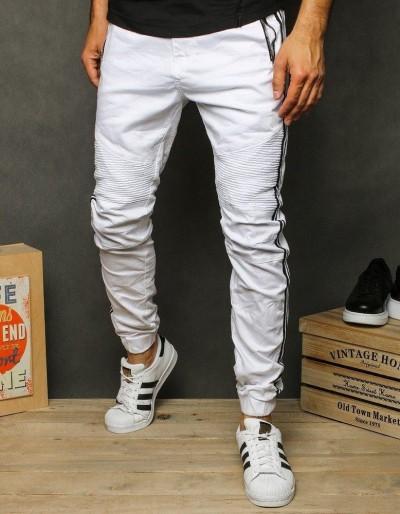 Pánské bílé běžecké kalhoty UX2609