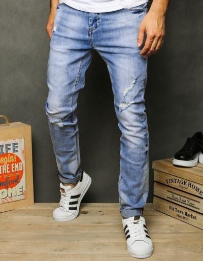 Pánské modré džínové kalhoty UX2613