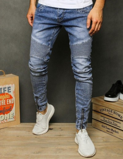 Pánské modré džínové kalhoty UX2614
