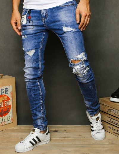 Pánské modré džínové kalhoty UX2616