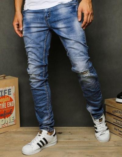 Pánské modré džínové kalhoty UX2617