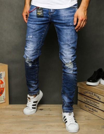 Pánské modré džínové kalhoty UX2620