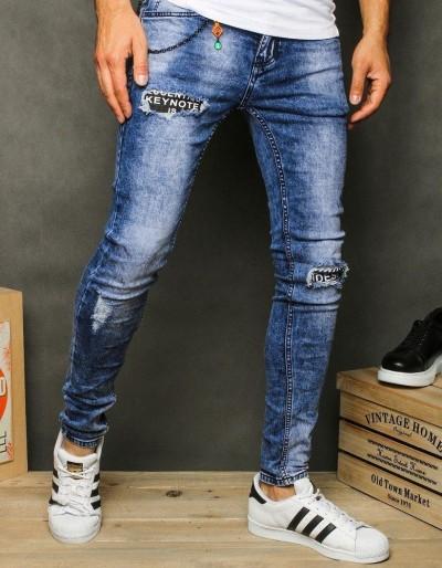 Spodnie męskie jeansowe niebieskie UX2622