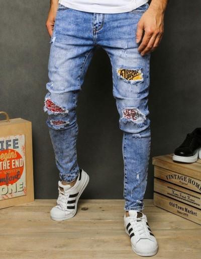 Pánské modré džínové kalhoty UX2625