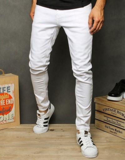 Bílé pánské džínové kalhoty UX2626