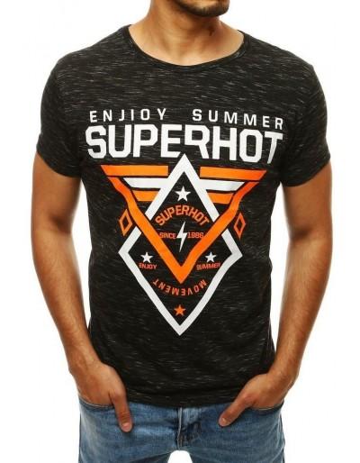 Černé pánské tričko RX4248 s potiskem