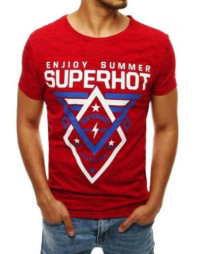 Červené pánské tričko RX4250 s potiskem