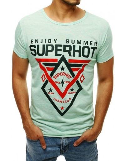 Zelené pánské tričko s potiskem RX4251