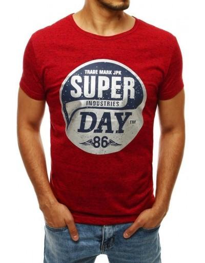Červené pánské tričko RX4253 s potiskem