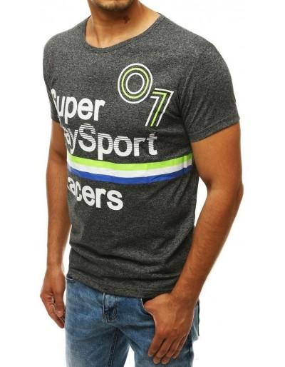 Pánské tričko s antracitovým potiskem RX4261