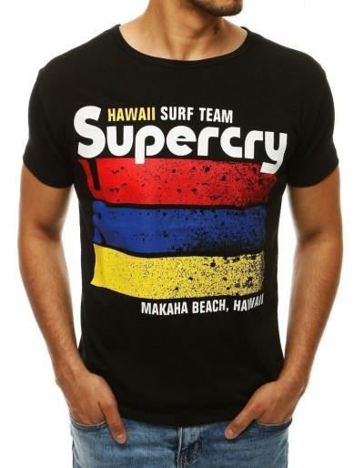 Černé pánské tričko RX4268 s potiskem
