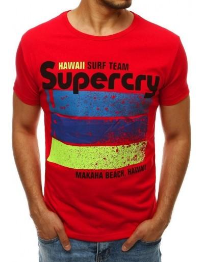 Červené pánské tričko RX4269 s potiskem